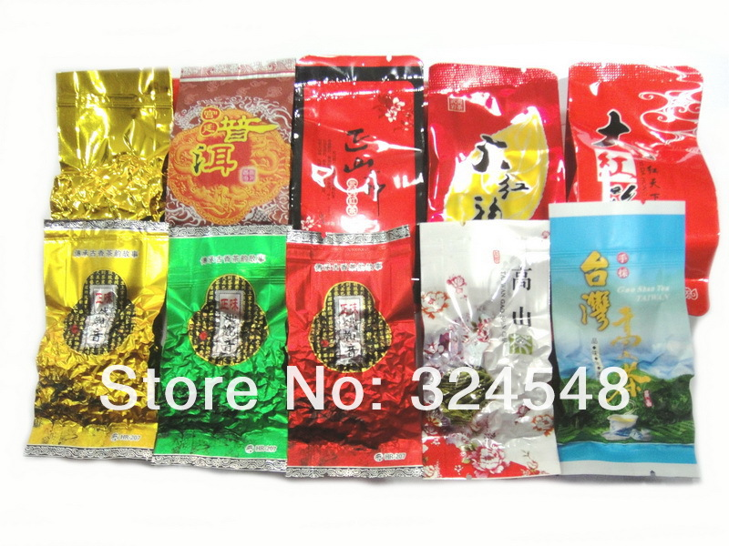 New tea 10 Different Flavors Oolong Tea Milk oolong tea Ginseng oolong TiKuanYin DaHongPao Puer tea