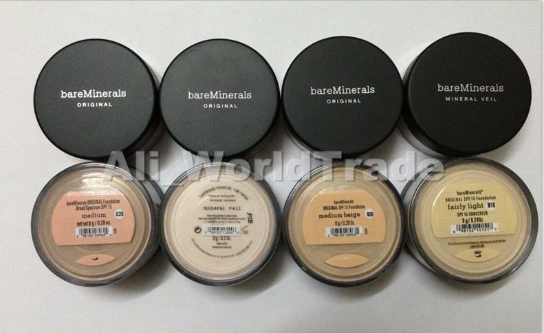 New Prevent bask loose powder,bareMinerals bare Minerals Escentuals SPF15 Foundation, 8g(30pcs/lots)<br><br>Aliexpress