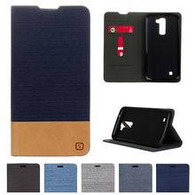 "Buy LG K 10 K10 LTE Case K410 K420N K430 K430DS K430DSF Denim Case Flip Leather Phone Cover M2 F670 F670L F670S F670K 5.3"" for $4.47 in AliExpress store"