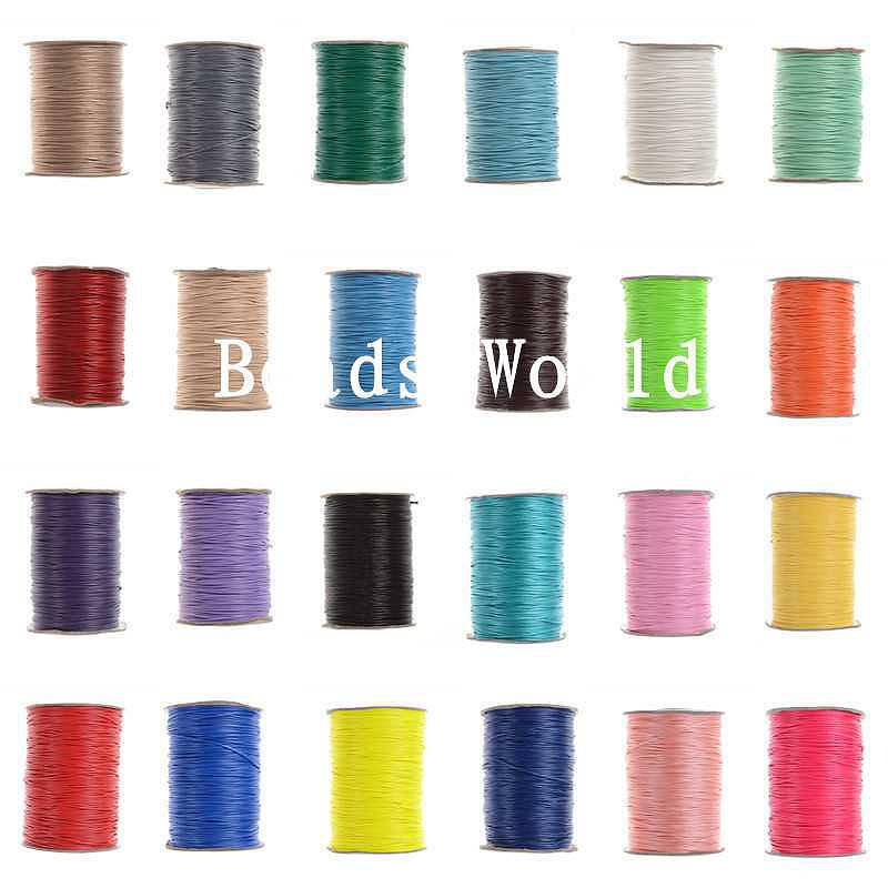 Free Shipping 1 Roll(Approx 170M) Wax Rope Jewelry Thread Cotton Cord 1mm Dia(W05584-W05599)<br><br>Aliexpress