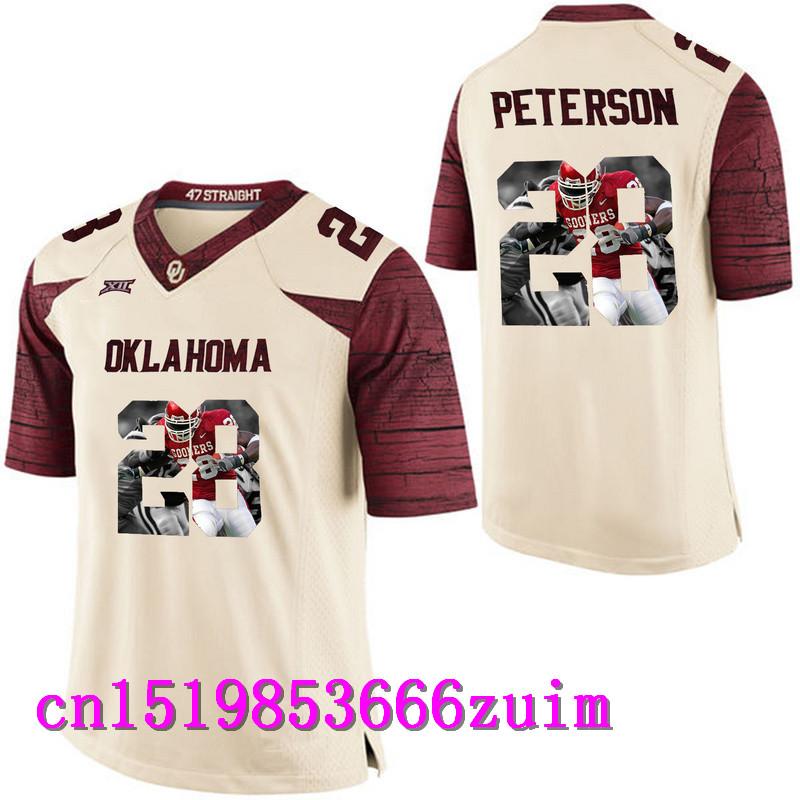 2017 Men's Oklahoma Sooners Adrian PETERSON 28 Basketball Limited Jerseys - Apple Green Size S,M,L,XL,2XL,3XL(China (Mainland))