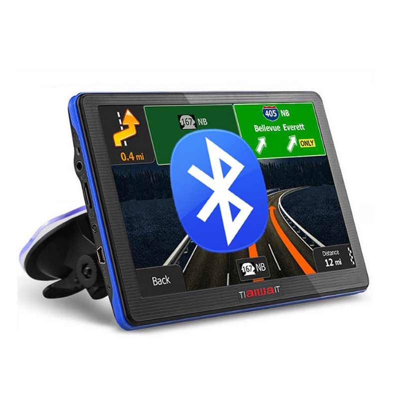 Junsun 7 inch HD Car GPS Navigation Bluetooth AVIN Capacitive screen FM 8GB/256MB Vehicle Truck GPS Europe Sat nav Lifetime Map(China (Mainland))