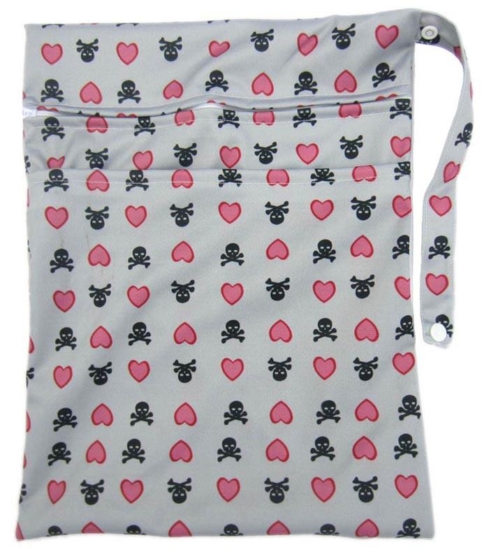 Новый многоразовый дизайн печатной ткань пеленки мокрые мешки водонепроницаемой ткани пеленки мешки с застежкой-молнией оптовая продажа WYY