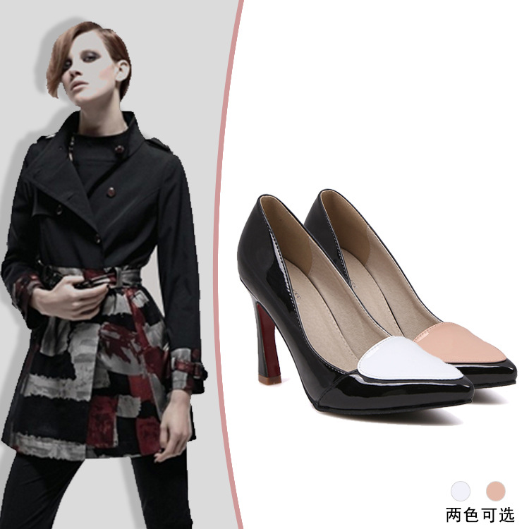 On behalf of a Korean four season leisure low color love pointed stilettos female shoes
