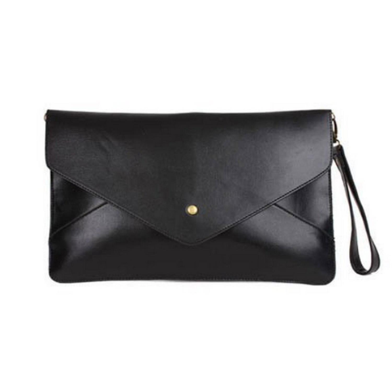 AUAU Ladies Ploy Urethane Leather Shoulder Bag/ Envelope Case - Black<br><br>Aliexpress