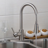 Ouboni Kitchen Faucet Torneira Cozinha Pull Out Down Brushed Nickel Swivel 360 Deck Mounted 8688-1/1 Sink Faucets,Mixers &Taps