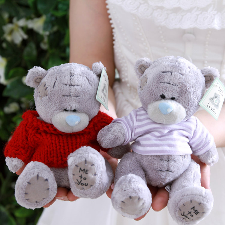 Wholesale 5pcs/lot Cartoon Plush Teddy Bears Toys Jumbo Me To You Stuffed Dolls Birthday Valentines for Baby&Kids Christmas Gift(China (Mainland))