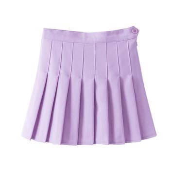 Лучшее предложение юбка красивая женщина женщины завышенная талия плиссировка Мини ...