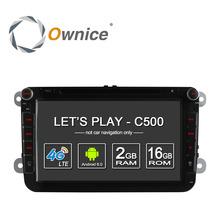 4G SIM LTE Nerwork Ownice C500 1024*600 Android 6.0 2G RAM 2 Din Car DVD GPS Navi Radio Player For VW Skoda Octavia 2(China (Mainland))