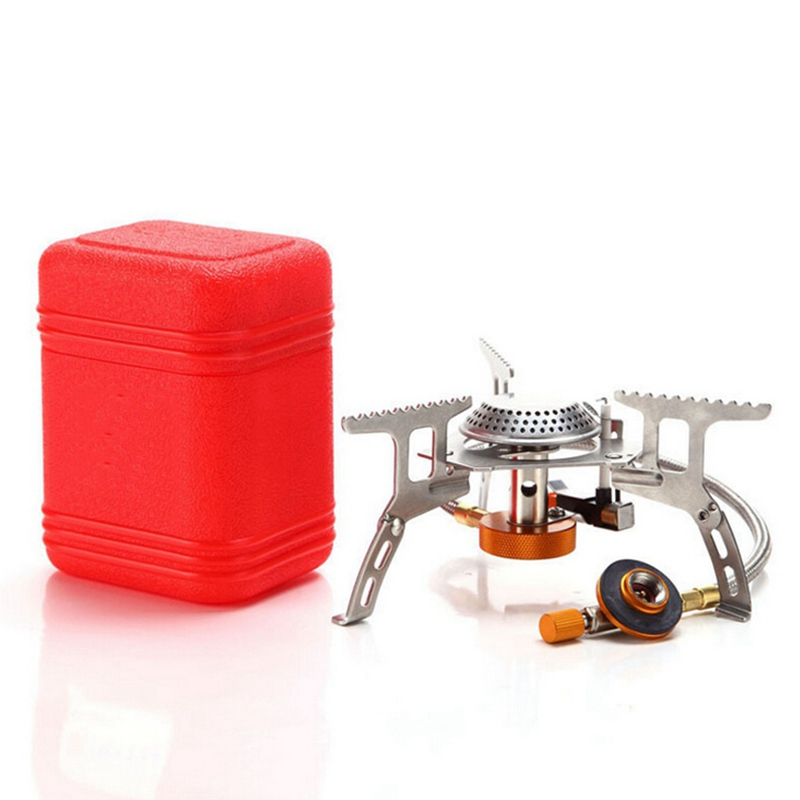 Ultralight Alloy Folding Portable Mini Cooking Gas Stove With Stand For Camping Hiking Cycling Backpacking Outdoor(China (Mainland))