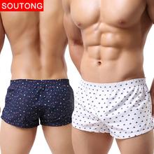 Men Underwear Boxer Shorts Trunks Slacks Cotton Men Cueca Boxer Shorts Underwear Printed Men Shorts Home Underpants std05(China (Mainland))
