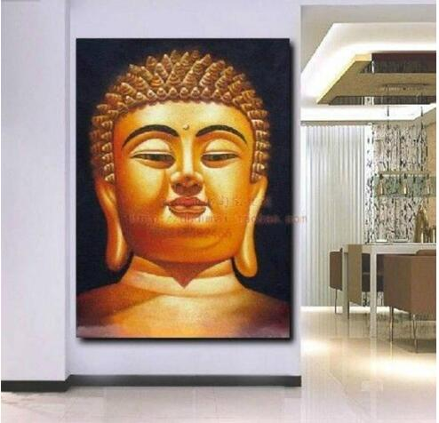 24 36 large buddha top handpaint art canvas oil painting no frame