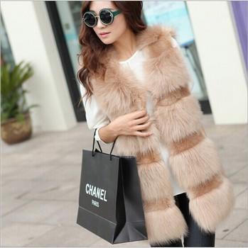 Ян девушки с стиль лиса меховой жилет высокое качество фокс шубы кролика одежда девушку хаки бежевый белый черный из искусственного меха куртки