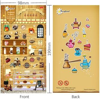 1pcs/lot Vintage Cartoon Coffee Shop series sticker/DIY Multifunction decoration sticker/phone sticker/DL.1045(China (Mainland))