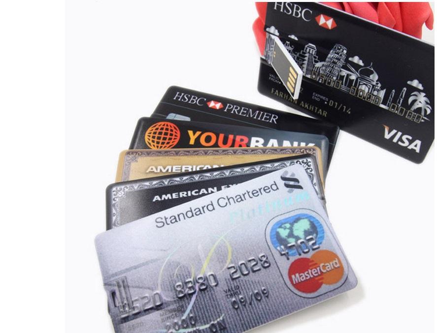 Гаджет   8G 16G 32G 64G bank credit card style USB Flash Drive Memory Stick usb Stick Pen drive free shipping None Компьютер & сеть