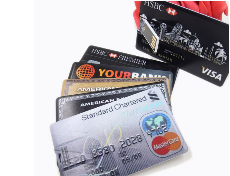 2015 new Fashion many styles Waterproof Super Slim Credit Card USB Flash Drives 64GB 32GB 16GB 8GB 4GBPendrives Thumbdrives(China (Mainland))