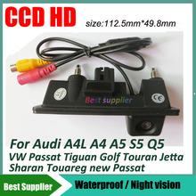 car rear view parking back camera for Audi A4L A4 A5 S5 Q5 VW Passat Tiguan Golf Touran Jetta Sharan Touareg Trunk handle camera(China (Mainland))