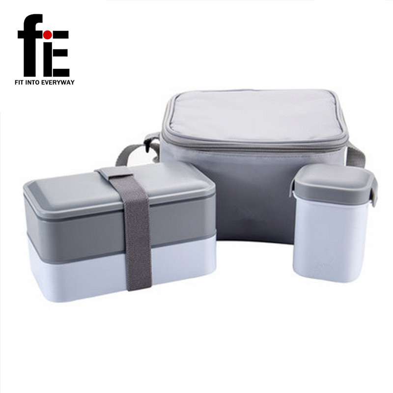 insulated bento box hot cold food with thermos bag lunch box water soup mug double layer. Black Bedroom Furniture Sets. Home Design Ideas