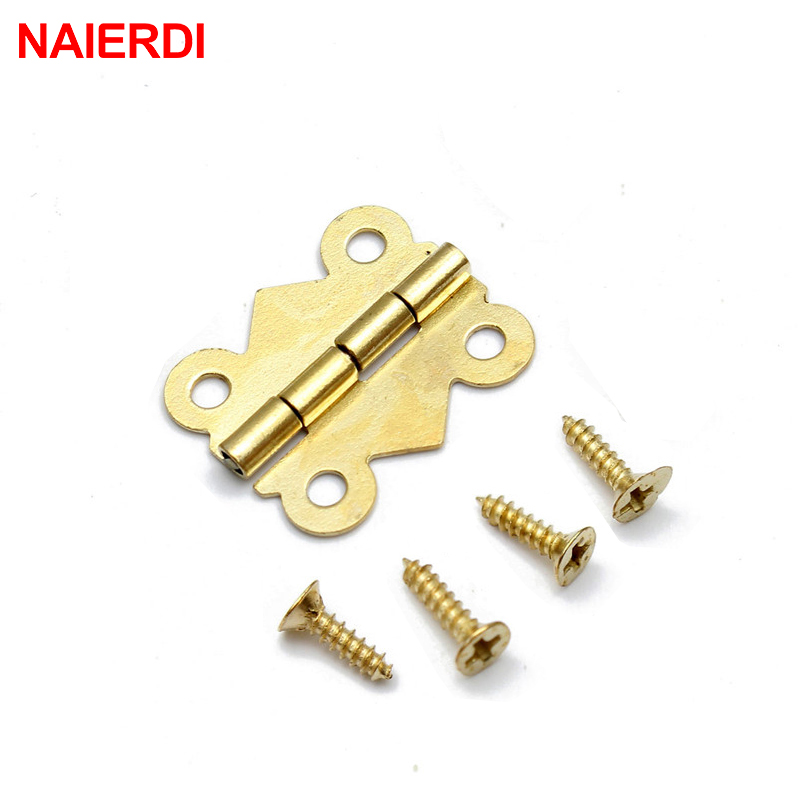 10pcs NAIERDI 20mm x17mm Bronze Gold Silver Mini Butterfly Door Hinges Cabinet Drawer Jewellery Box Hinge For Furniture Hardware(China (Mainland))
