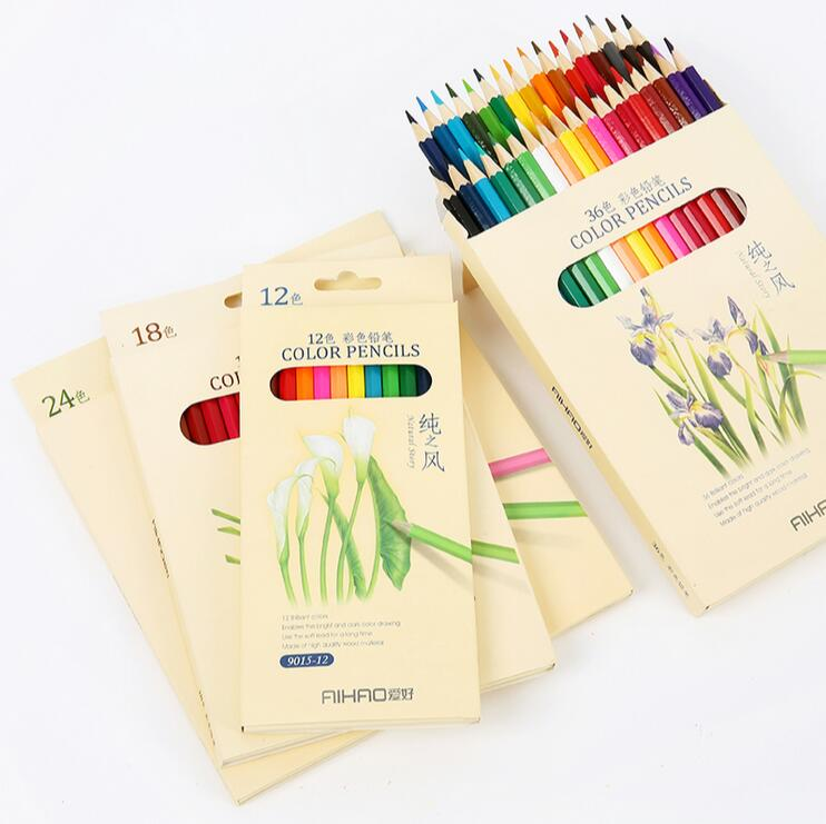 Nature story color pencils drawing 36 different colores pencil set Crayon Stationery Office school supplies lapices 1623