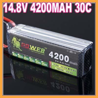 1pcs lion 14.8V 4200MAH 30C 4S max 60C battery packs lipo batteries akku bateria batterie for Walkera KDS(China (Mainland))