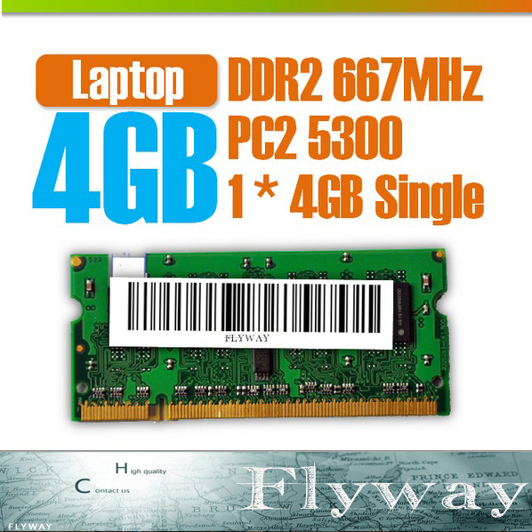 Brand New SODIMM Memory Ram memoria ram DDR2 4G 667Mhz PC2 5300 For Notebook Support Dual Channel<br><br>Aliexpress