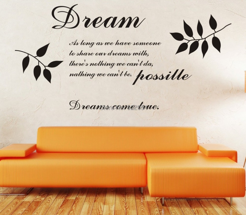 Free shipping modern designer wallpaper dream quotes for Modern house quotes