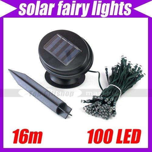 16m 100 LED Solar Power Christmas Fairy Multicolor Fairy String Light #3016