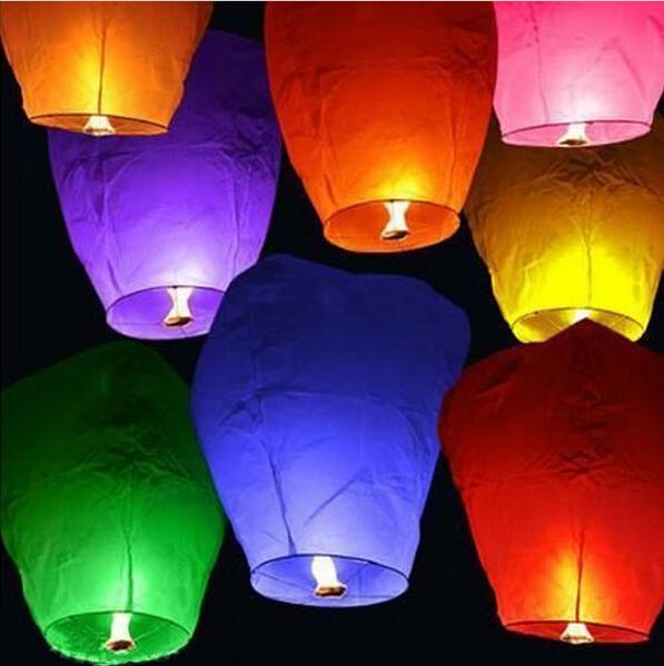 JMJN Chinese Lanterns Sky Fly 20 Pieces/Lot Candle Lamp For Birthday Wedding Party Lantern Wish Lamp Sky Lanterns Free Shipping(China (Mainland))