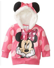 Hot Sale children hooded sweater boys girls cartoon Hoodies & Sweatshirts kids casual jacket 1-5Y(China (Mainland))