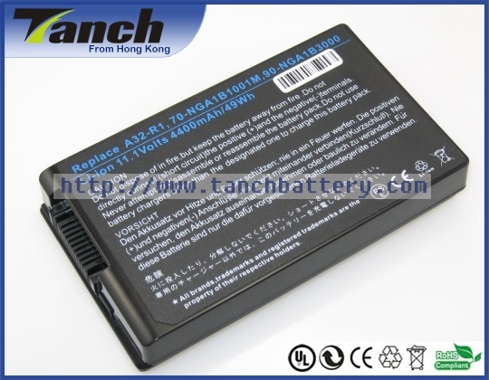 Replacement ASUS laptop batteries for A32-R1,R1 Tablet PC,R1E,R1F,90-NGA1B3000,70-NGA1B1001M,11.1V,6 cell