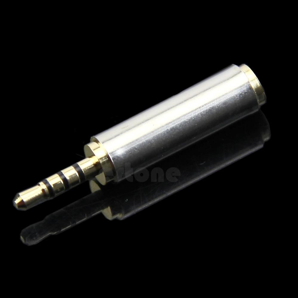 2 5mm Male to 3 5mm Female Stereo Audio Earphone Headphone Adapter Converter
