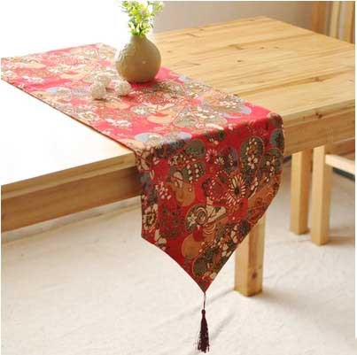 Table Runner Fashion Two Colors Classical Style Vintage Decorative Tablecloth Dining Table Cover Home Living Room High Quality(China (Mainland))