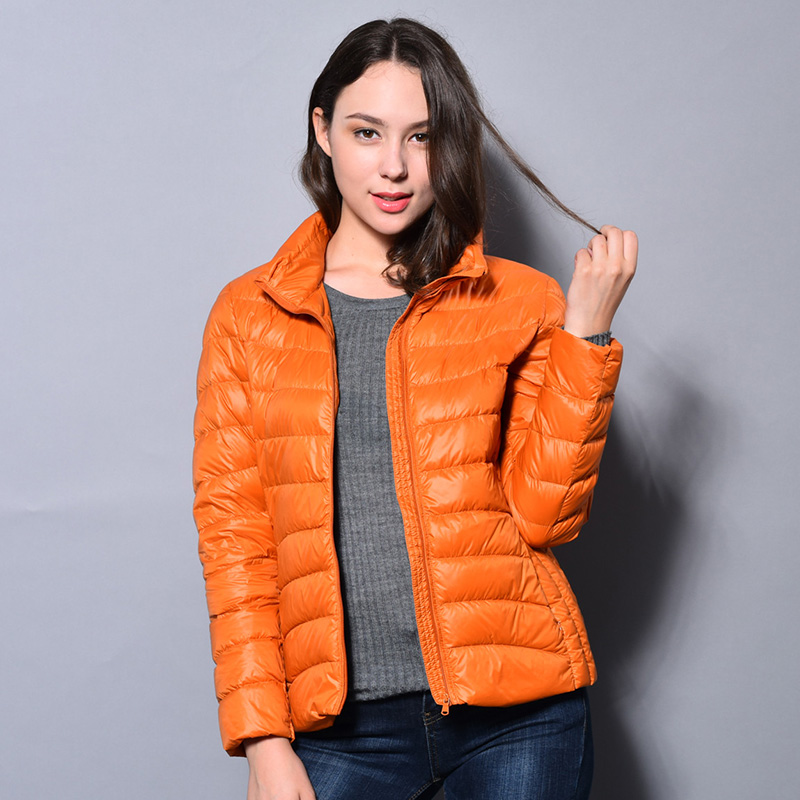 Ultra Light Duck Down Jacket Women Portable Outdoor Winter Jacket Stand Collar Slim Thin  chaquetas mujer 15 ColorsОдежда и ак�е��уары<br><br><br>Aliexpress