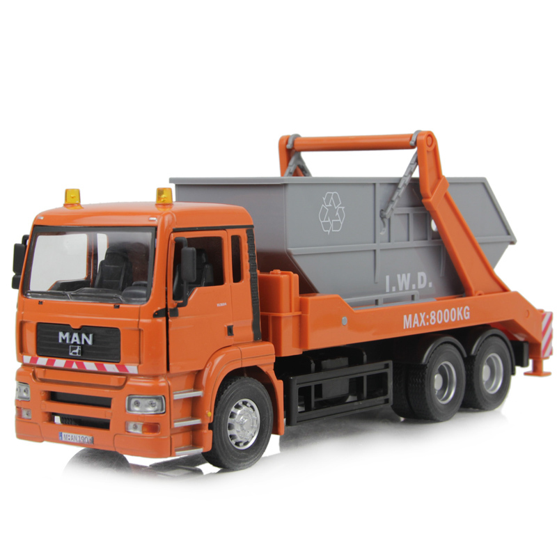 1:32 large garbage alloys truck children's model toys big size 27cm * 8cm * 12cm gift box packing Free shipping(China (Mainland))