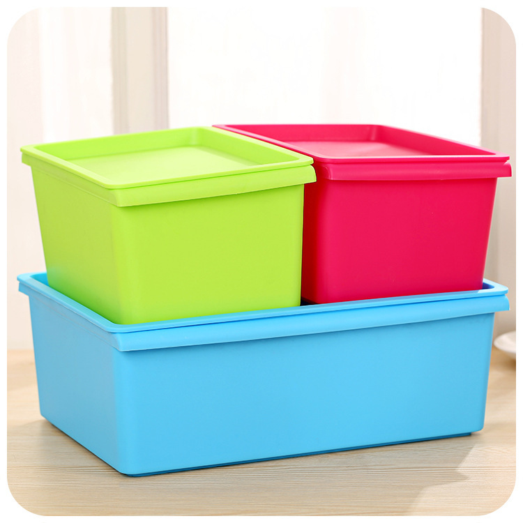 Stackable storage box candy colored plastic storage box & Best Ideas Of Cheap Storage Bins with Lids - Best Home Design Ideas ...