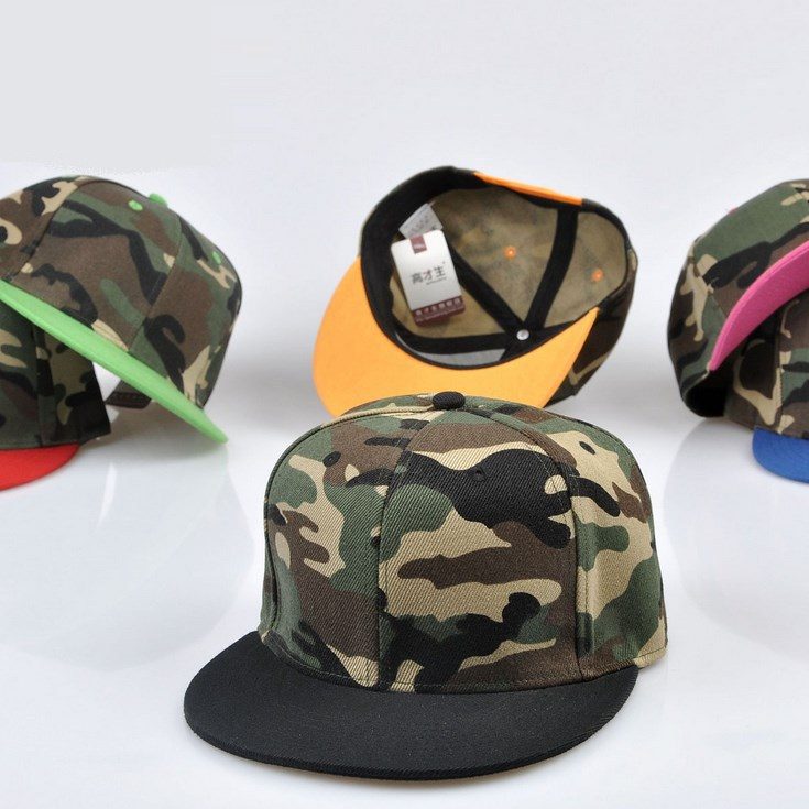 Wholesale Retail Military Camouflage Flat Snapback Cap Adult Custom Personalized Embroidery Print Promotional Free Shipping(China (Mainland))