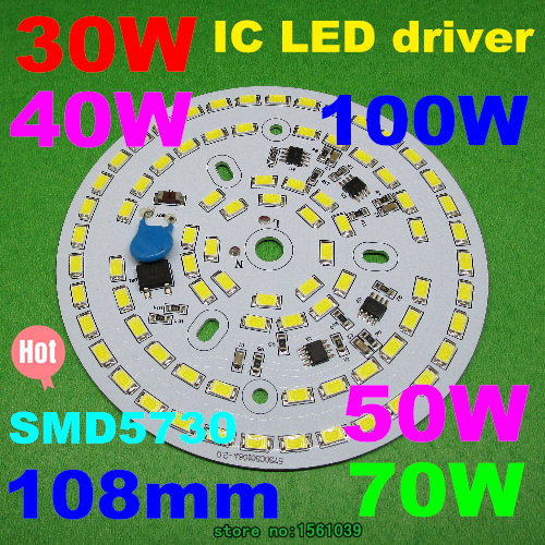 2pcs/lot Dimmable SMD 5630 5730 2835Integrated Driver PCB Bulb Panel 30w -100w Driverless Led PCB Down Light(China (Mainland))