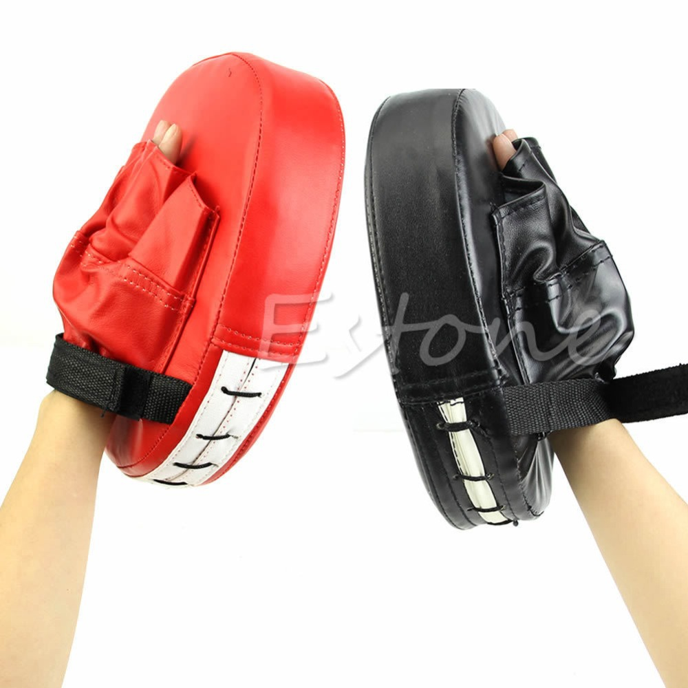Гаджет  J117-Free shipping 1 Pcs Boxing Mitt Training Target Focus Punch Pad Glove MMA Karate Muay Kick Kit  None Спорт и развлечения