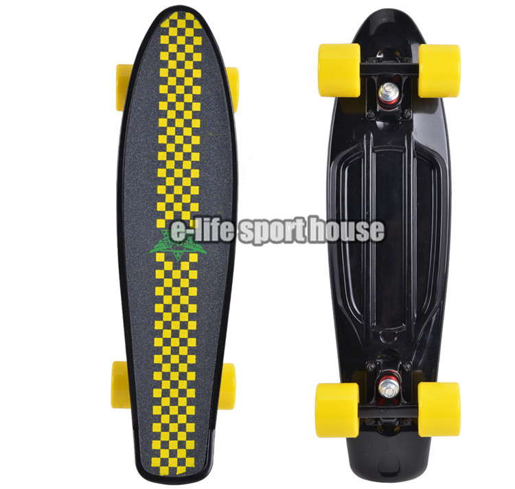 Black Abrasive Penny Skate Board Deck Chinese Longboard Skate Aluminium Truck Custom As You Want(China (Mainland))