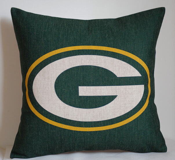 Packers pillow cover, Creative NFL team logo Green Bay Packers throw pillow case pillowcase wholesale(China (Mainland))