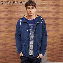 Giordano Men Jackets Hood Windbreaker Mens Solid Outdoor Softshell Windproof Outerwear Jacket Men Famous Brand Clothing(China (Mainland))