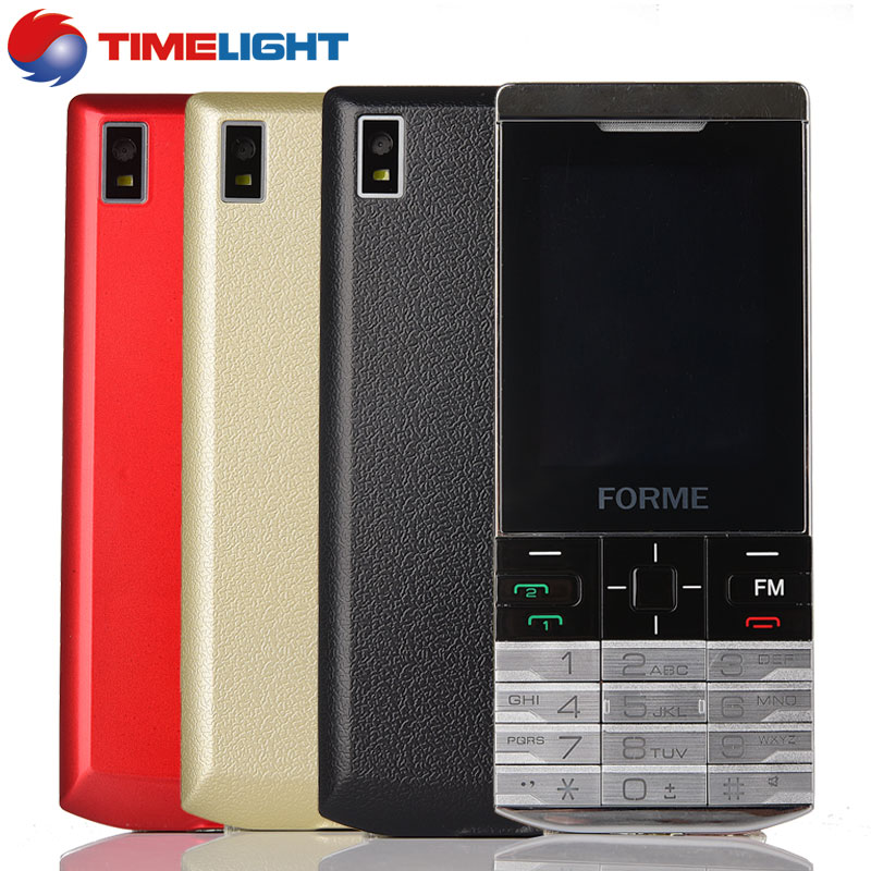 In Stock! Metal Texture! original FORME K58 dual sim bluetooth telefon cell phone unlocked mobile phone Free Multi color shell(China (Mainland))