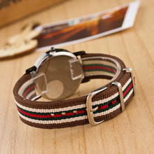 Colour mixture weaving rope band Simple Sports classical black dial Analog Quartz relogio Watch Sports casual