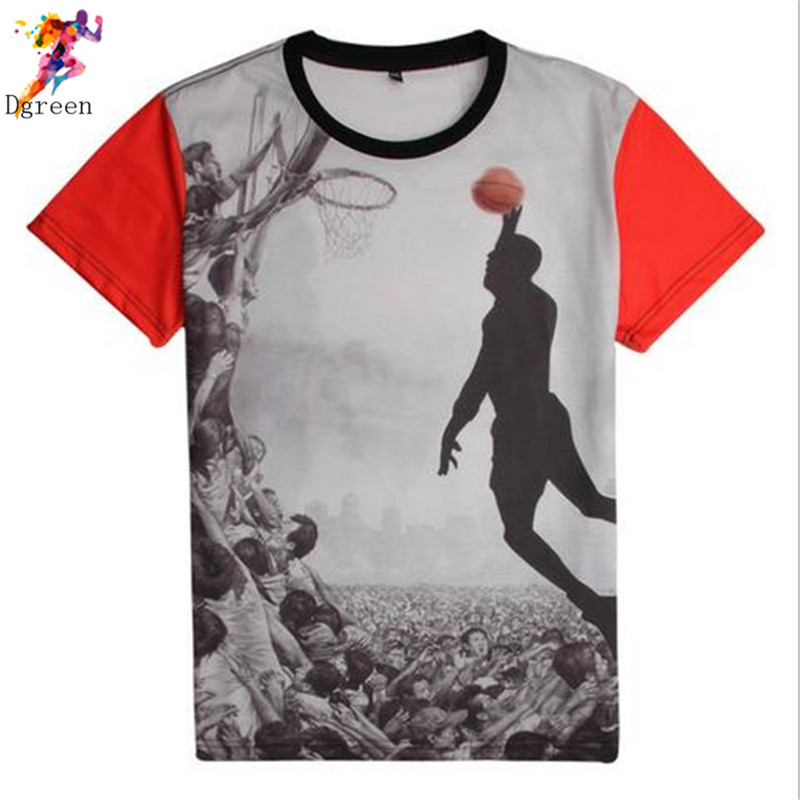Men's 3D Basketball Star 6 James print fitness sport O-Neck Short Sleeve Tops Tees t-shirt,new arrival men clothes free shipping(China (Mainland))
