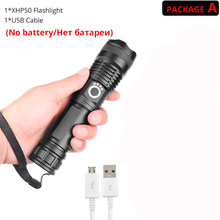 80000 lumens led flashlight xhp70.2 most powerful flashlight 26650 usb torch xhp70 xhp50 lantern 18650 hunting lamp hand light(China)