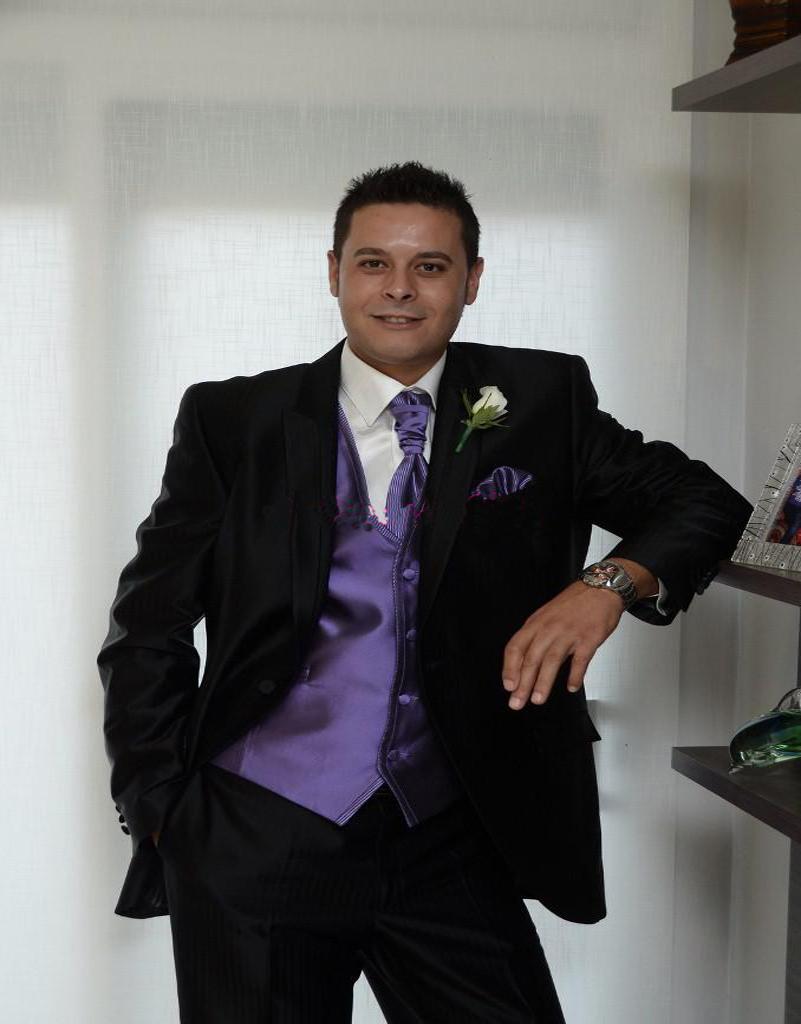 Boys Wedding Tuxedos Purple