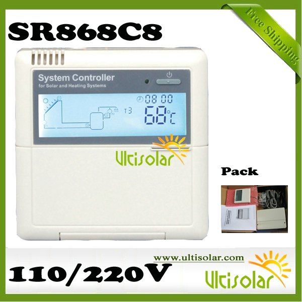 Solar System Controller SR868C8 Solar System Controller Free Manual Classic model Free Shipping 3 days out Ultisolar New Energy(China (Mainland))