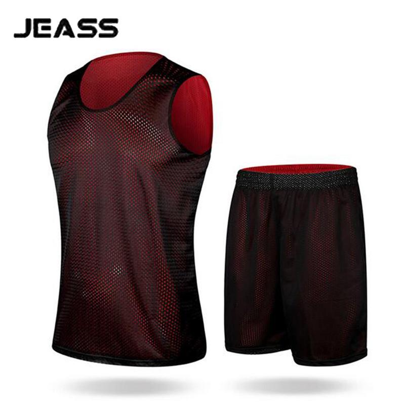 JEASS Double-sided Basketball Tracksuit Breathable Men Basketball Jerseys Blank Training Suit Custom baloncesto Uniforms(China (Mainland))