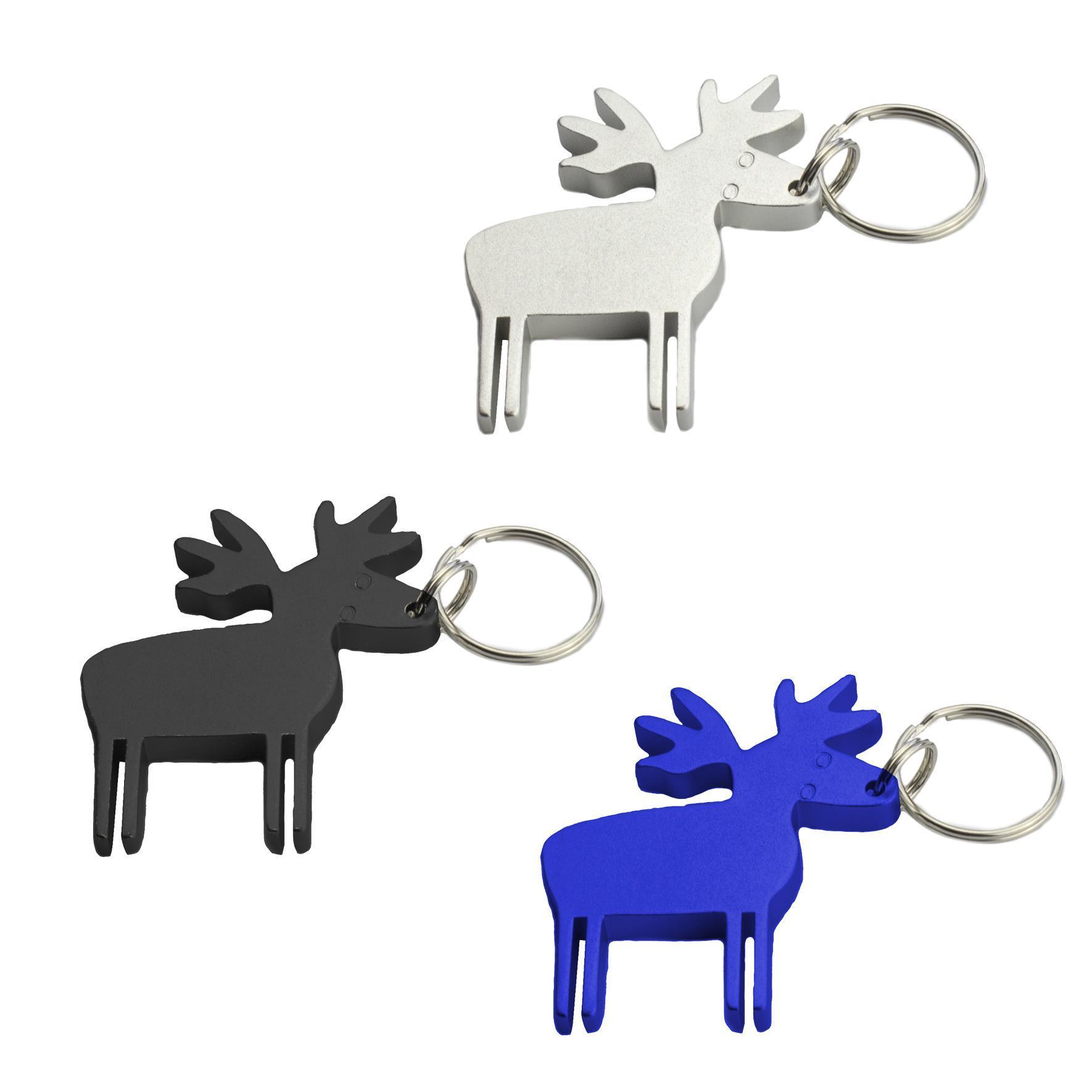 thicken deer shape metal keychain bottle opener keychain keyring key chain ring bottle opener. Black Bedroom Furniture Sets. Home Design Ideas
